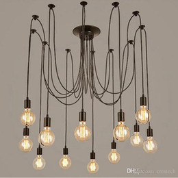 Wholesale Hotel Bedroom Accessories - modern vintage lights chandelier pendant lighting holder group Edison diy lighting lamps lanterns accessories messenger wire