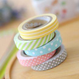 Wholesale Masking Tapes - Wholesale- 2016 JBFISH 5 pcs masking 5m washi tape album scrapbook Decoration sticky Stationery school supply paper office adhesive tape 1