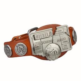 Wholesale Leather Steampunk Bracelets - Wholesale-2016 Steampunk Style Charm Genuine Leather Bracelet Bangles Men Jewelry Fashion Men's Bracelets Gift Hot Sale