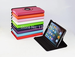 Wholesale Ipad Mini Smart Case Magnet - Wholesale-High Quality 360 Degree Rotating Magnet PU Leather Stand Cover Smart Case For Ipad Mini 1 2