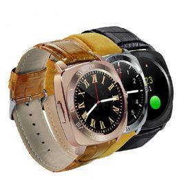 Argentina Nueva ronda X3 smartwatches reloj bluetooth reloj de pantalla de cara redonda reloj inteligente con cámara inserta sim tarjeta TF podómetro pantalla táctil VS A1 V8 Suministro