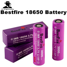 Wholesale 100 d origine Bestfire BMR batterie mAh violet batterie rechargeable A travail pour E cigarettes Mod IJOY capitaine PD270 Mod