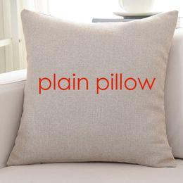 Wholesale Design Cushions Pillow Cases - 100pcs plain flaxen color blank linen cushion cover 85g blank pillow case wholesale provide pattern custom print design picture