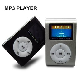 Wholesale gift mp3 clip - Wholesale- LCD Screen Mp3 Player Multicolor Metal Clip Mini Mp3 Music Player Fashionable Gift with Micro TF SD Card Slot Electronic Product