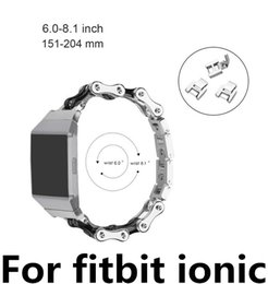 2019 estilos de banda de reloj de metal NUEVO Estilo de cadena para Fitbit Ionic correa de acero inoxidable Banda de reloj inteligente banda de repuesto de metal para Fitbit Ionic estilos de banda de reloj de metal baratos