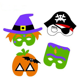 Wholesale Halloween Pirate Masks - Halloween Party Ghost Masks Halloween Mask Ghost Festival Pumpkin Pirate Ghost Party Supplies Halloween Props CCA7021 300pcs