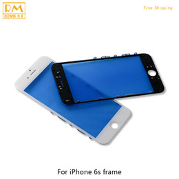 """Wholesale Replace Phone Screen - 5pcs lot For iPhone 6S 5.5"""" 6S Plus Outer Replace Glass with Frame Bezel LCD Front Touch Screen Glass Panels Digitizer Sensor Phone Parts"""