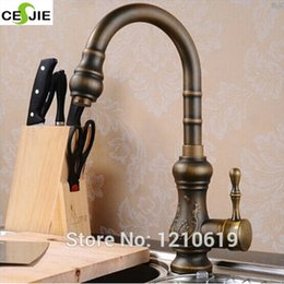 Wholesale Vintage Bathroom Sink Faucets - Wholesale- US Free Shipping Wholesale And Retail Solid Brass Vintage Bathroom Basin Sink Faucet Dark Antique Brass Mixer Tap Single Handle