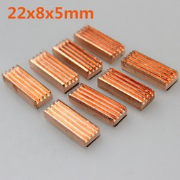 Wholesale Vga Ddr Card - Wholesale- 8pcs set 22x8x5mm Copper Heatsink Heat Sink for DDR VGA RAM Memory IC Chipset