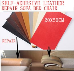 Wholesale Fix Patch - DIY Sofa Bag Repair Leather Sticker Patch Self-adhesive Mending Pu for Car Seat Chair Bed Bag Patch Dog Bite Hole Fix Renew Sticker 20x50cm