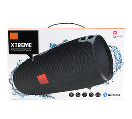 Wholesale Phone Strap Button - Xtreme Bluetooth speakers Outdoor subwoofer waterproof speaker with straps stereo MP3 Player Support USB TF charging for phone free shipping