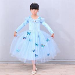 2019 cinderella niños ropa Vestido de fiesta de la mariposa del vestido de Cinderella de los cabritos de Cosplay Cinderella rebajas cinderella niños ropa