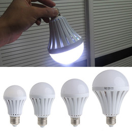 Wholesale Led Work Light 5w - E27 LED bulbs emergency lamp 5W 7W 9W 12W Manual Automatic control 180 degree light Street vendors use working 3-5 hours