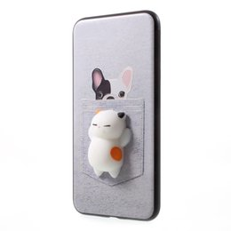 Wholesale Stress Cards - 3D Cat Squishy Phone Bag Case Capa Soft Squeeze Toys Back Cover Stress Relieve Shell