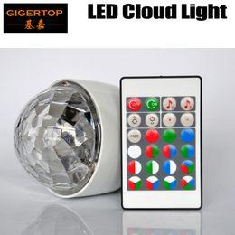 Wholesale Red Light Bulb E27 - Gigertop TP-E38 Led Cloud Light RGB Remote Controller E27 B22 E26 Fitting Screw Socket Bulb Colorful Rotation Lighting Plastic Freeshipping