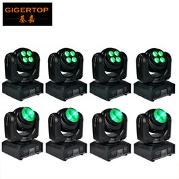 Wholesale Axis Rotation - Big Discount 8XLot Two Face Mini Led Moving Head Light Beam Wash Led Stage Light RGBW Y Axis Endless Rotation Cree 10W Beam Tianxin 40W Wash