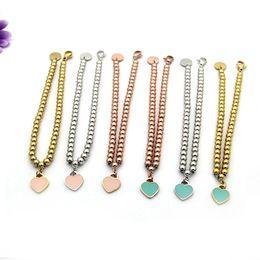 Wholesale Vintage 14k Gold Charm - Vintage Silver plated Charm love Bracelets For Women 2017 New Heart Beads T Bracelets & Bangles Pulseras
