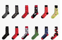 Wholesale Classic Dressing For Men - 22 styles mix brand Mens business dress socks Classic fashion men socks -funny dress sock for man sock manufacture