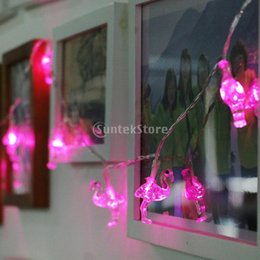Wholesale Fairy Maker - Wholesale-10 LED Flamingo Fairy String Light Indoor Outdoor Party Wedding Christmas Fairy Decoration Light