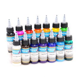 Wholesale Pigment For Permanent Makeup Eyebrows - wholesale-14 colors  Lot tattoo ink set pigments permanent makeup 30ml cosmetic color tattoo ink for eyebrow eyeliner lip