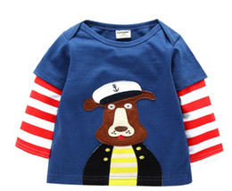 Wholesale More Metallic - Brand New Children Clothing Spring Autumn Fashion Cartoon T-Shirt Toddler boys girls Casual Long SleeveTop More Colored Design Free Shipping