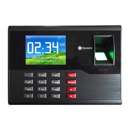 Máquinas de relógio on-line-Venda por atacado- A-C121 TCP / IP Biométrico de Impressão Digital Relógio de Tempo Recorder Atendimento Empregado Eletrônico Punch Reader Máquina Realand com 2.8 ''