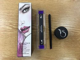 Wholesale Double Ended - New Arrival Vamp Stamp Winged Liner Set Hot Double-end Vavavoom Wing Stamp Medium Large Stamp With Eyeliner Cream Free Shipping