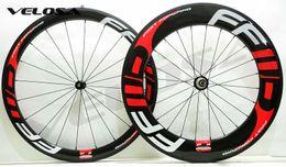Wholesale 88mm Wheels - FFWD front 60mm,rear 88mm clincher tubular ,23mm width Light weight Full carbon bike wheelset, 700C road bike wheel, Basalt brake surface