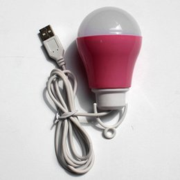 Wholesale Led Spotlights Purple - USB interface LED portable mobile power supply light bulb brightness