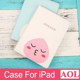 Wholesale Cartoon Screen - Tablet Case For iPad 2 3 4 air air2 mini mini4 Lovely Cute Cartoon Animation Protective Cover Intelligent Sleep DHL free