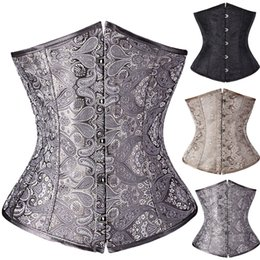 Wholesale Goth Hot - Hot Fashion Goth Steampunk Sexy Lace up Boned Corset Bustier Waist Body Shaper Top Dress