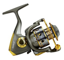 Wholesale Metal Gear Series - YUMOSHI BQ 13BB Fishing Reel 5.5:1 Gear Ratio Metal Strong Spinning Reel Spool Saltwater Fishing Reel