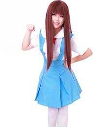 Anime uniforme ragazza di scuola online-Cosplay cosplay di Neon Genesis Evangelion Ayanami Rei Girls School Uniform