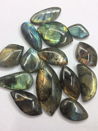 Wholesale Wedding Gift Ornaments - Natural tumbled stone crystal reiki healing labradorite pendant blue and yellow color polished face for decoration