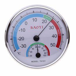 2019 sensor de umidade de alta temperatura BaoYi TH101 Home Dial Termômetro Sensor de Temperatura de Umidade de Alta Precisão Útil Berçário Casa Do Bebê Quarto Termômetros ZA2925 sensor de umidade de alta temperatura barato