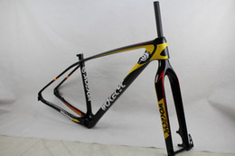 Wholesale Mountain Frame Fork - Wokecyc MTB carbon frame 29er come with front fork 100*15mm racing frameset 142x12 rear thru axle mountain frame compatible 135x9