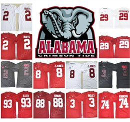 Wholesale Ivory Jones - 2018 NEW Alabama Crimson Tide NCAA Jersey FITZPATRICK Julio Jones Jalen Hurts Ridley Allen Robinson O.J Howard College jerseys Hot SPORT