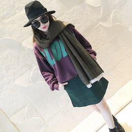 Wholesale Double Sided Cashmere Pashmina - 2016 New European Style Women's Cloak Shawl Stripes Double sided wool Dual-use Split Color Stripe Imitation Fashion Addisionlove Scarf