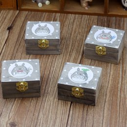 Wholesale Gift Boxes For Shoes - Rotate Manual Music Box Creative Totoro Arts And Crafts Decoration High Grade Gift For Children Hot Sale 11gl J