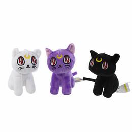 """Wholesale H Cotton - Wholesale-Lunar Artemis Diana Cat Anime Sailor Moon plush doll toy 17cm 6.7"""" H Soft Cotton Stuffed Plush Toys Gift Hang Decorations"""