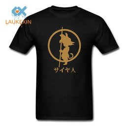 Wholesale Wholesale Hipster Clothes - Wholesale- Son Goku Printing Tee 2016 Men's Fashion Japan Anime Dragon Ball Z T Shirt Super Saiyan shirt Hipster Cotton Tops Men Clothing