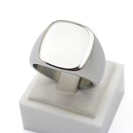 anéis dourados do menino Desconto Venda a granel por atacado Engrave Polido Simples design personalizado de titânio de prata em aço Inoxidável jóias personalizadas anel de sinete banda