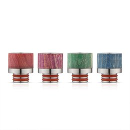 Wholesale Wood O Ring - 510 Drip Tip Stable Wood Wide Bore Drip Tips Stainless Steel Stable Wood Material Dual O Rings Mouthpiece fit 510 Atomizer