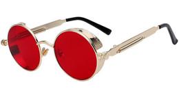 Wholesale Wholesale Steampunk Glasses - fashion Round Metal Sunglasses Steampunk sunglasses for men sunglasses for women Fashion Glasses Sun glasses beautiful glasses