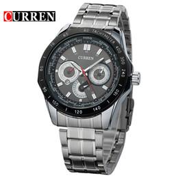 CURREN 8150 часы мужчины качество Марка военные наручные часы полный стали мужчины спортивные часы водонепроницаемый Оптовая наручные часы cheap wholesale curren sports watch steel от Поставщики оптовая торговля спортивная сталь