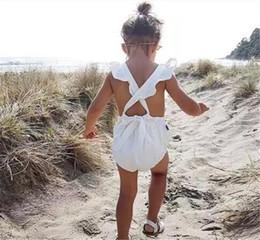 baby rüsche blüht rosa Rabatt 2017 INS baby mädchen kleinkind Sommer kleidung kleidung Rosa Spitze Rüsche Strampler Overalls Windel deckt Bloomers L001