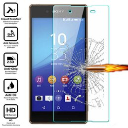 Wholesale xperia z1 screen protectors - Tempered Glass Film For Sony Xperia X XA Ultra C6 Ultra X Compact XZ XZS XA1 Ultra Z Z1 Screen Protector 9H Anti Scratch Protective Film