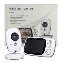 Wholesale Digital Nanny - Baby Monitor VB603 3.2 inch LCD IR Night Vision 2 way Talk 8 Lullabies Temperature monitor Digital video nanny radio babysitter