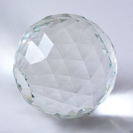 Wholesale Prism Crystal Suncatcher - 90MM Clear Cut Crystal Sphere Faceted Gazing Ball Prisms Suncatcher Home Decor #