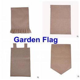 "Wholesale Home Decoration Ship - Burlap Garden Flag 12""Wx18""H DIY Liene Yard Decorative Flags Hanging Home Custom Print Decoration Banner Ads Flags DHL Free Shipping"